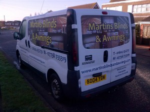 martins blinds and awnings van