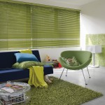 Green metal venetian blinds