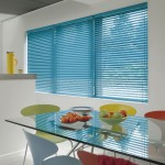 blue metal venetian blinds
