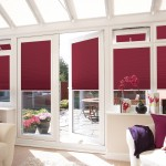 red conservatory blinds