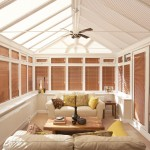 brown conservatory blinds